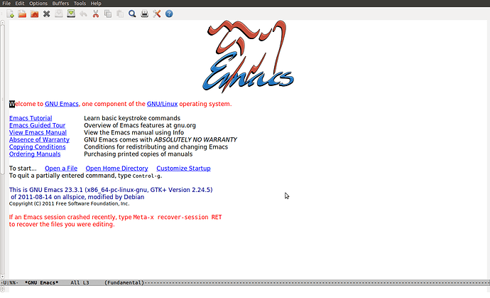 emacs-welcome
